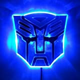 Edge Glowing LED Transformers AUTOBOTS Car Emblem - BLUE