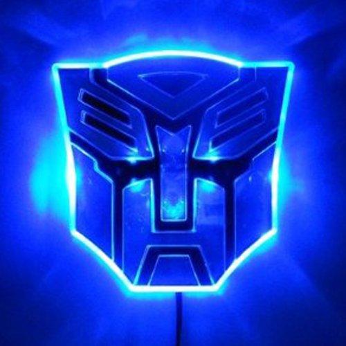 Edge Glowing LED Transformers AUTOBOTS Car Emblem – BLUE