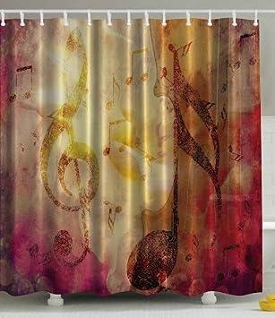 BBFhome Rideaux de douche Rideau 120 X 180 CM abstrait musique ...