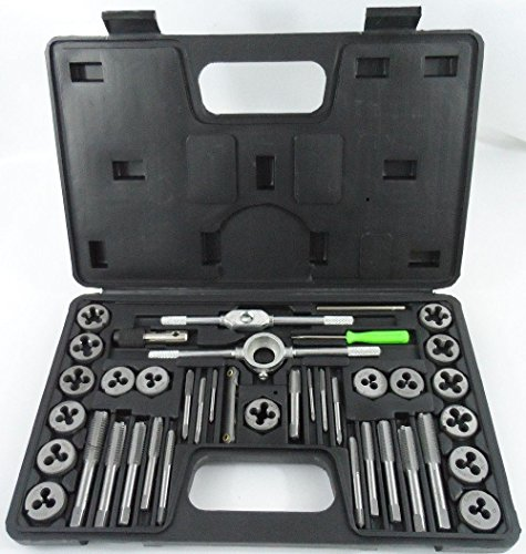 40pc Metric Tap & Die Set w/ Case Screw Extractor Remover Ki
