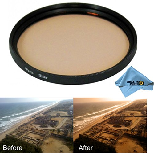 72mm High Quality Warming Multi Coated Glass Filter for Sony Alpha DSLR-A850 + Grace Photo Microfiber Cleaning Cloth