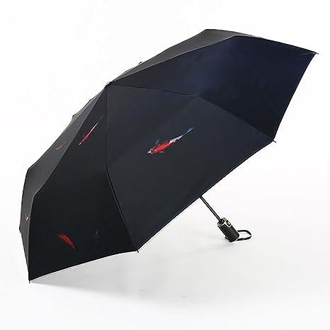 Paraguas a prueba de viento automático irrompible paraguas a prueba de viento plegable de viaje compacto