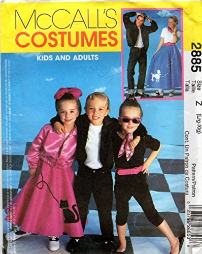McCalls 2885 or P206 Adult 50s Costumes Sewing Pattern