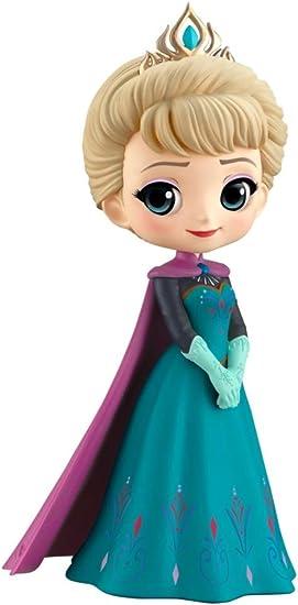 Figura Statuetta Collezione Elsa 14cm Da Frozen Qposket Banpresto