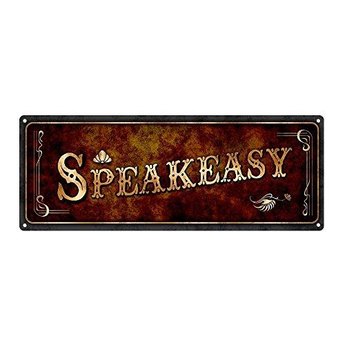 Brown Speakeasy Metal Sign, 6
