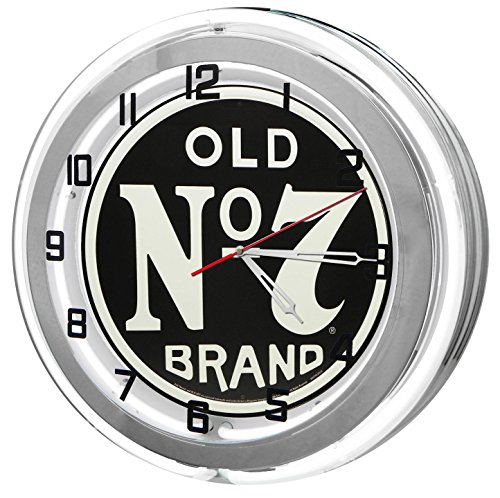 """Jack Daniels Old No 7 18"""" White Double Neon Clock from for sale  Delivered anywhere in USA"""