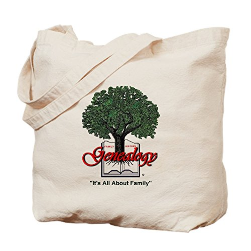 CafePress It's All About Family Natural Canvas Tote Bag, Cloth Shopping Bag