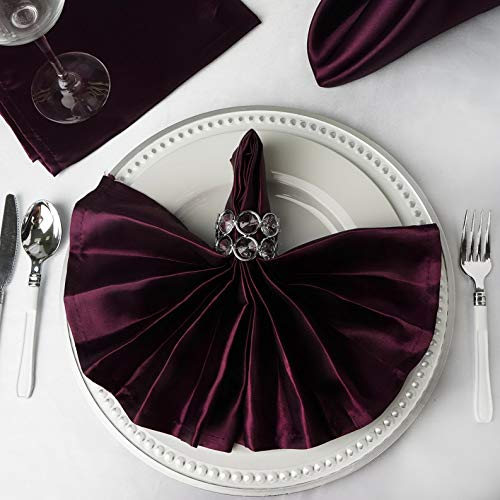 Mikash 20 Satin Napkins Wedding Party Shower Table Supply Decorations Wholesale | Model WDDNGDCRTN - 4389 | 150 pcs Discount Wedding Personalized Napkins