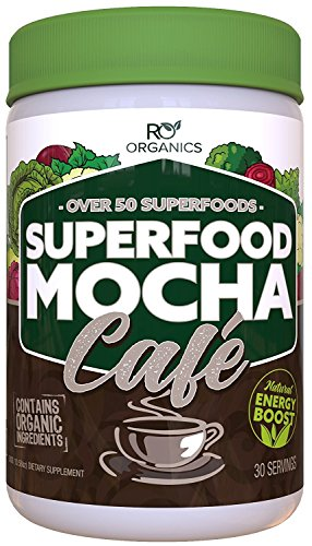 Nutritionals Antioxidant - Superfood Mocha Café Superfood Powder | Nutritional Super Greens Multivitamin & Antioxidant Powder to Boost Energy & Weight Loss | Chocolate Flavored with Probiotics & Digestive Enzymes.