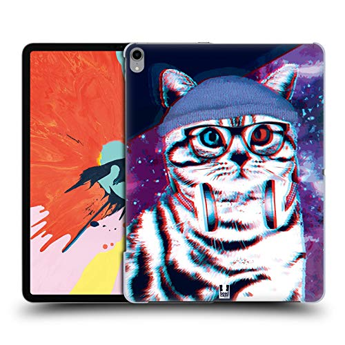 (Head Case Designs Hippie Strange Cats Hard Back Case Compatible for iPad Pro 12.9 (2018))