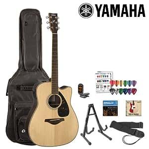 yamaha jf fgx730sc kit 1 acoustic electric guitar kit with gig bag strings strap. Black Bedroom Furniture Sets. Home Design Ideas