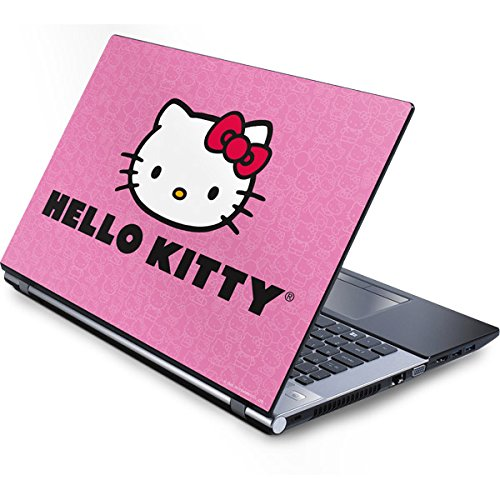 Skinit Hello Kitty Face Pink Generic 12in Laptop (10.6in X 8.3in) Skin - Officially Licensed Sanrio Laptop Decal - Ultra Thin, Lightweight Vinyl Decal Protection