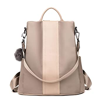be2dc376c8c6 Fashion Backpack Purse for Women Nylon Backpacks Anti Theft Ladies Casual  Daypack Stylish Shoulder Bag