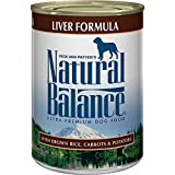 Natural Balance Canned Dog Food, Liver and Rice Recipe, Case of 12 Cans/13 Oz.