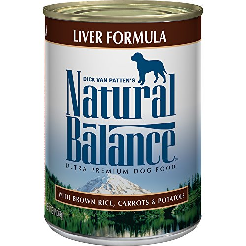 Natural Balance Canned Dog Food, Liver and Rice Recipe, Case of 12 Cans/13 Oz. - All Natural Canned Dog Food