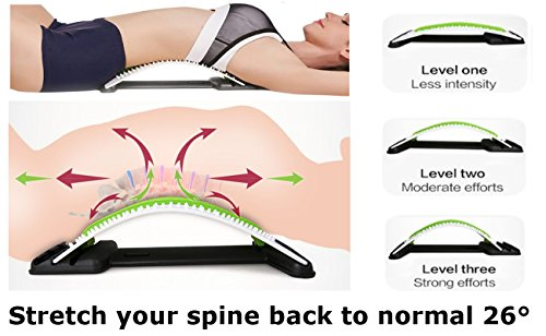 Best Arched Back Stretcher As Seen Doctors TV - CHISOFT (2nd Edition) Lumbar Stretching Device + Extra Cushion Foam + Trigger Point Massage Ball, Improve Posture, Sciatica Back Pain Relief by CHISOFT (Image #5)