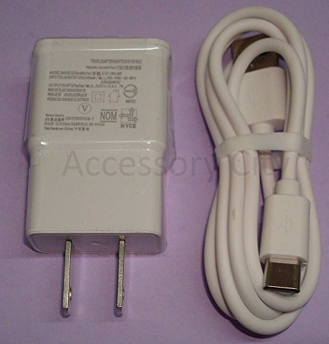 Acs Bolt - ACS White AC Charger & Type-C Cable for Sprint HTC Bolt