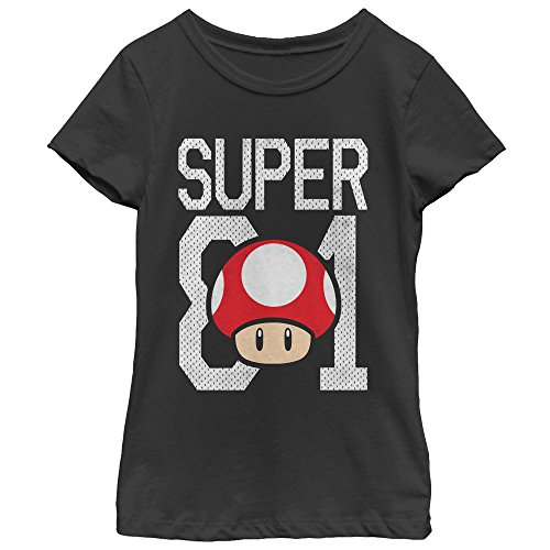 Price comparison product image Fifth Sun Nintendo Mario Super Mushroom Jersey Girls Graphic T Shirt