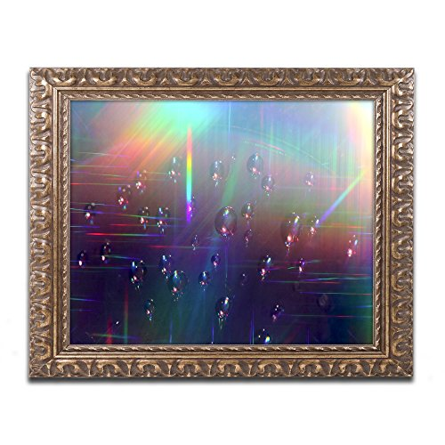 "picture of Trademark Fine Art Rainbow Logistics V Artwork by Beata Czyzowska Young, 16 x 20"", Gold Ornate Frame"