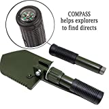 We pay your sales tax Portable 16'' Multi Functional Military Tactical Folding Shovel W/Compass ~ Camping/Hiking / Survival/Fishing Tools (KT00082)