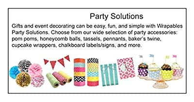 "Wrapables 12"" Set of 3 Tissue Pom Poms Party Decorations for Weddings, Birthday Parties Baby Showers and Nursery Décor"
