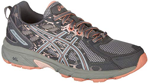 ASICS Womens Gel-Venture 6 Carbon/Mid Grey/Seashell Pink Running Shoe - 10 -