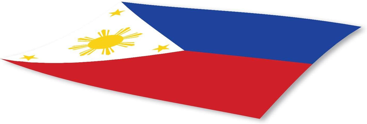 Filipino Bumper Sticker Philippines Bumper Sticker 3x5 Philippines Flag Bumper Sticker 3-Pack Made with Durable Waterproof Materials Filipino Flag Bumper Sticker