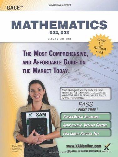 GACE Mathematics 022, 023 Teacher Certification Study Guide Test Prep by Sharon A Wynne (2013-01-10) ebook