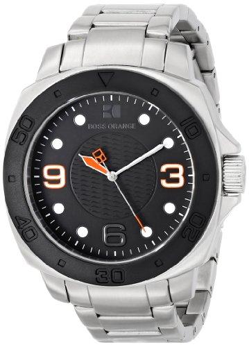BOSS Orange Men's 1512842 Diver Analog Display Quartz Silver Watch by Hugo Boss