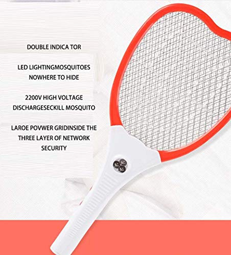 Bug Zapper Racket 2 Pack, LED Charging Electric Fly Swatter, Durable Safe to Touch Mesh Net Electric Mosquito Swatters, Random Frame Colors
