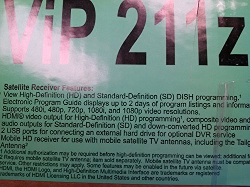 DISH NETWORK VIP 211Z HDTV SATELLITE RECEIVER
