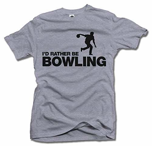 I'D RATHER BE BOWLING XL Ash Men's Tee (6.1oz)