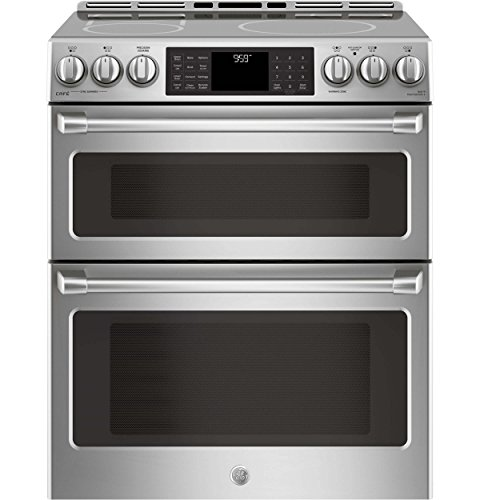 GE Cafe CHS995SELSS 30 Inch Slide-in Electric Range with Smoothtop Cooktop, 2.3 cu. ft. Primary Oven Capacity in Stainless Steel -