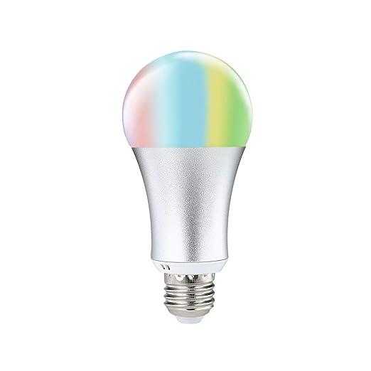 COOSA Bombilla LED Inteligente, Bombilla Wifi, E27, 6W, Bombilla Regulable RGB + Blanco Cálido, no Requiere Concentrador, Funciona con Amazon Alexa, ...