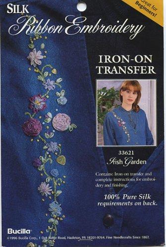 Silk Ribbon Embroidery (Iron-on Transfer, 33621 Irish - Ribbon Silk Transfer