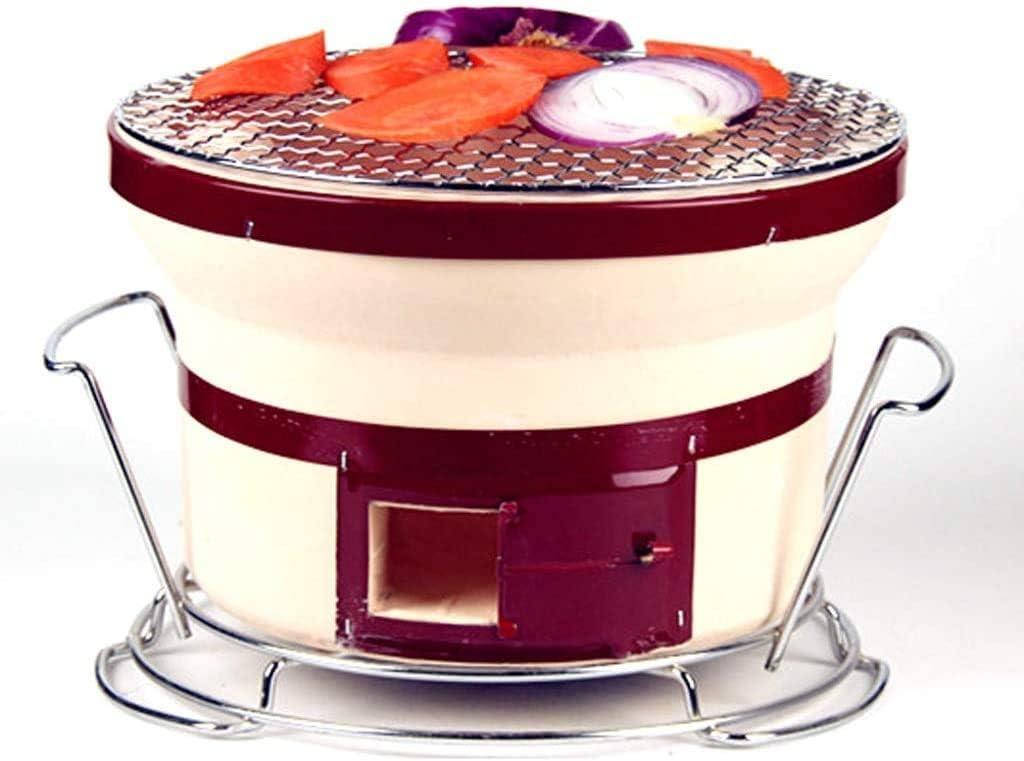 Barbacoa - horno de barro barbacoa estufa de la barbacoa comercial de estilo japonés estufa de carbón de arcilla del hogar de la caldera de carbón en interiores y exteriores conveniente fuego @ (Tamañ