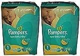 86 (2x43) Pampers Windeln New Baby DRY Gr. 1, 2-5 KG (Gewicht: 2-5KG) NEWBORN thumbnail