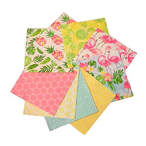 Tropical Charm Pack - DIE Cut - Quilting Fabrics - Quilt Charm Pack - Charm Packs for Quilting - Fabric Charm Packs - Precut Fabric - Quilting Fabric - Baby Fabric (Tropical Quilt Fabric)