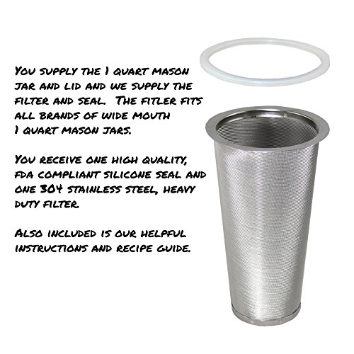 Buy cold brew coffee filter mason jar gallon