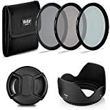 58mm Easy Screw-On Neutral Density Filters + Tulip Lens Hood + Snap on Lens Cap