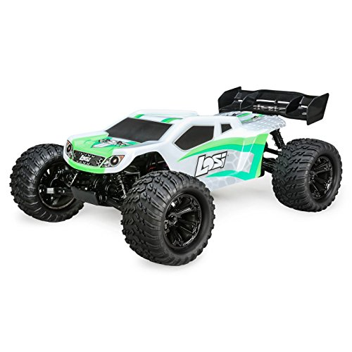 Losi 1/10 Tenacity-T 4WD Truggy Brushless RTR with AVC, White/Green, LOS03011T1