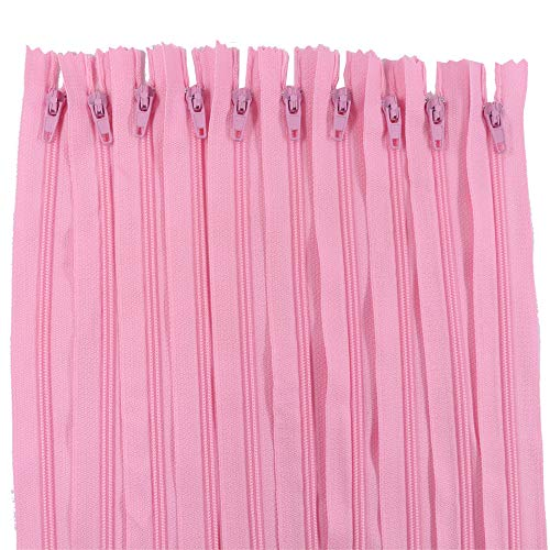(Renashed 60Pcs 12Inch Nylon Coil Zippers for Tailor Sewer Sewing Craft Crafter's Specia (Pink))