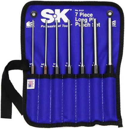 SK 6127 Long Pin Punch Set 7 Piece