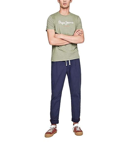 Pepe Jeans Camiseta Eggo Verde Oliva Hombre: Amazon.es: Ropa y ...