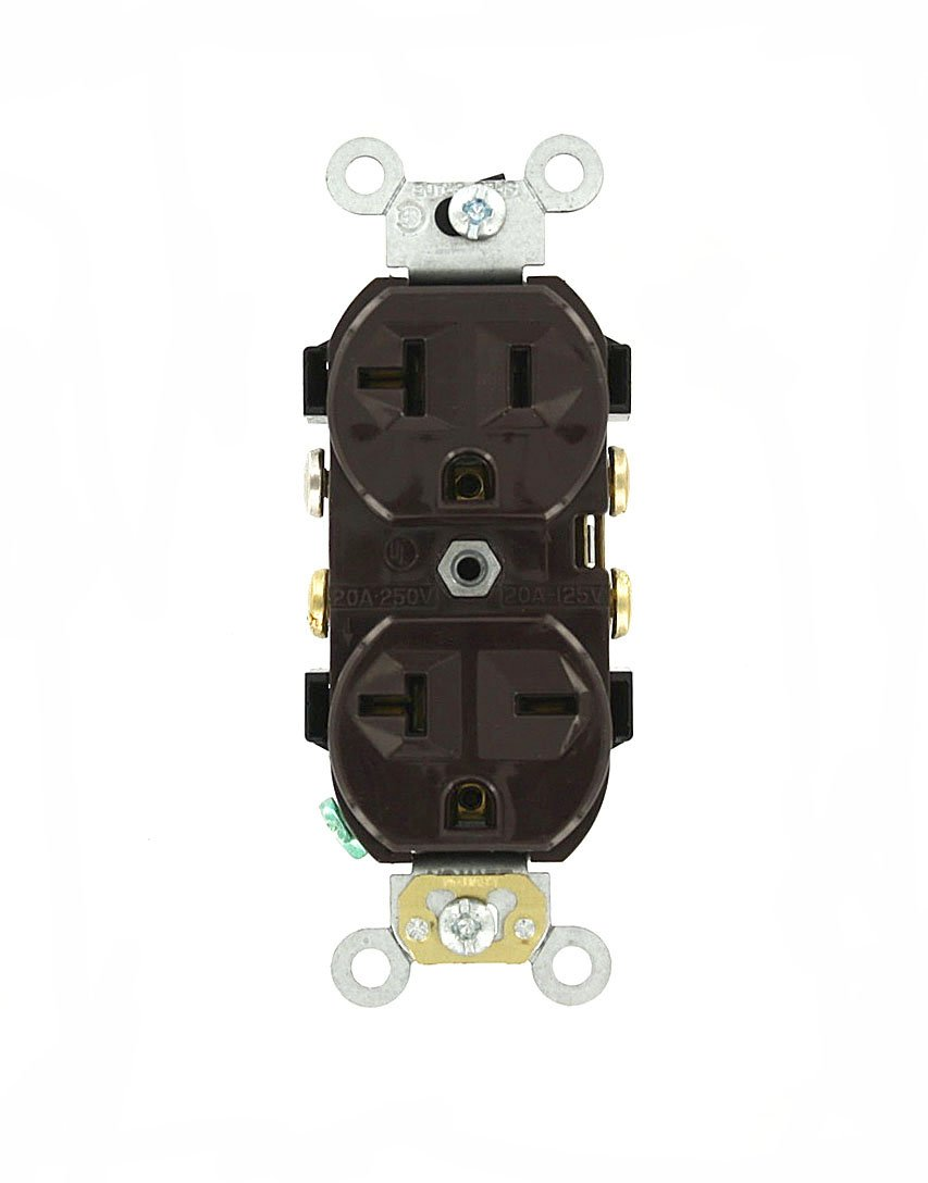 513R9FCoxKL._SL1088_ leviton 5842 i 20 amp, 125 250 volt, narrow body duplex receptacle  at reclaimingppi.co