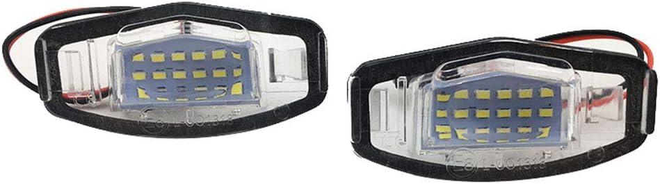 luz blanca Dishykooker Juego de 2 luces LED de matr/ícula para Honda Accord Civic City Odyssey MR-V//Pilot