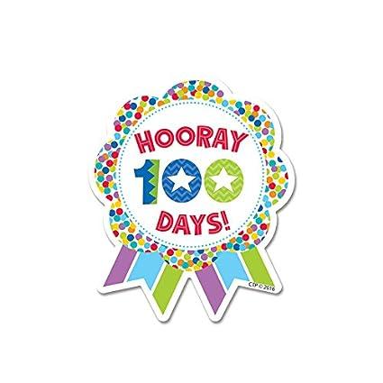Amazon com: Hooray 100 Days! Ribbon Reward Badge: Arts, Crafts & Sewing