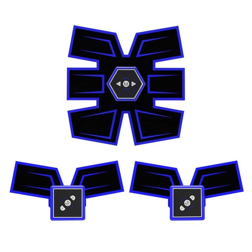EMS腹筋ベルト EMSアブストレーナーアブベルトボディービルディング腹部ベルトホームインテリジェント筋トレーニングフィットネス機器筋肉腹部トレーナー腹部筋肉トナー腹部トーニングベルト 筋力トレーニング (Color : Blue, Size : 19*20cm) 19*20cm Blue B07KM52TR2