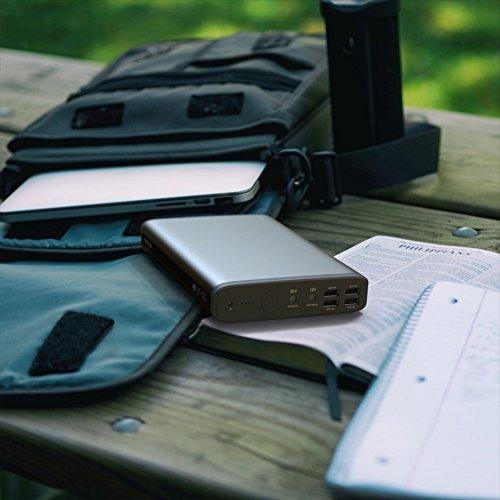 PowerOak K2 solar 50000mAh 185Wh 6 Port 5 12 20V convenient solar ability bank for tablet laptop notebook Sony Dell HP Toshiba Samsung Lenovo Acer External Battery Packs