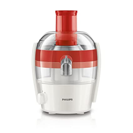 Philips Viva Collection Compact Fresh Juicer Machine 1 5l Red